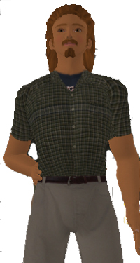 Avatar wearing Dress Shirt